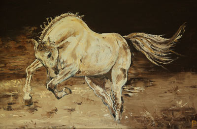 Freedom - Equestrian Oil Painting