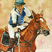 Polo - Equestrian Oil Painting for sale